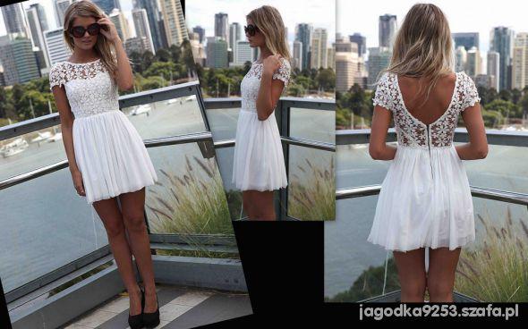 cudna biała sukieneczka