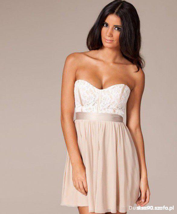 Wieczorowe Sukienka kloszowana gorsetowa ASOS