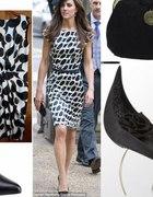 biało czarna sukienka MONNARI rozmiar 38 klasyka