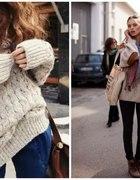 sweter oversize inspiracja