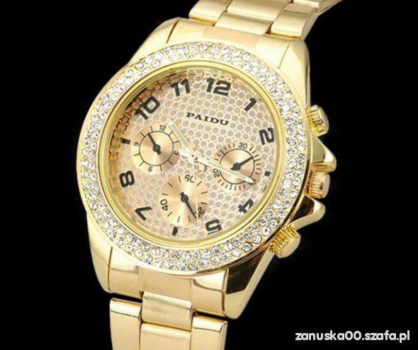 zegarek zloty paidu cyrkonie