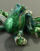 Szkatułka kałamarnica ośmiornica dżety zielona