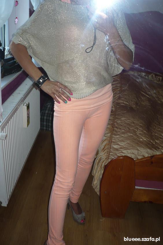 Mój styl Morelka i metaliczny sweter