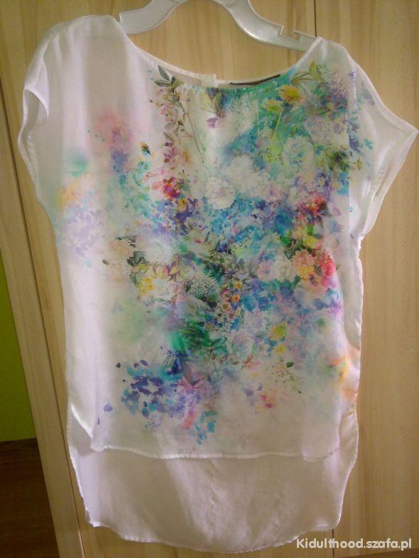 bluzka asymetrycza wzory biała reserved