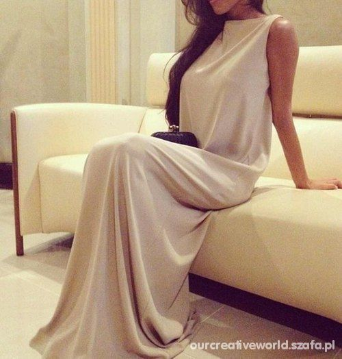 Eleganckie Długa sukienka