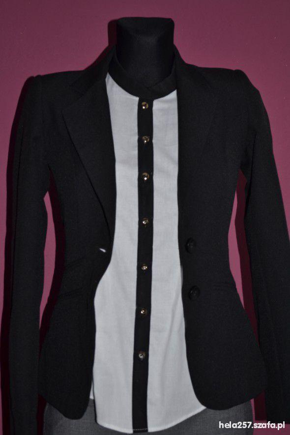 Czarno biała koszula nowa