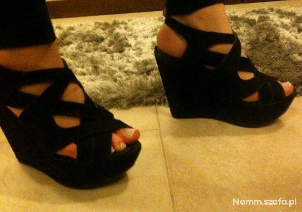 35339424 Oryginalne letnie buty na koturnie w Obuwie - Szafa.pl