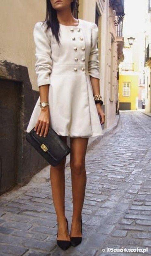 Do pracy Piękny płaszczyk plus buciki