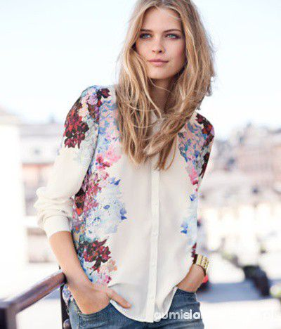 koszula w kwiaty floral H&M