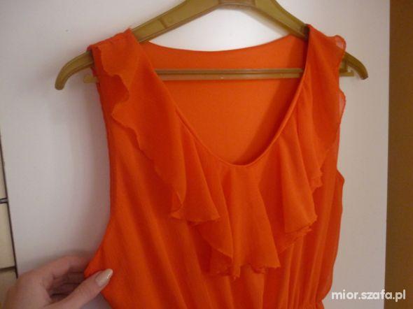 Pomarańczowa żywa tunika