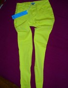 spodnie limonka