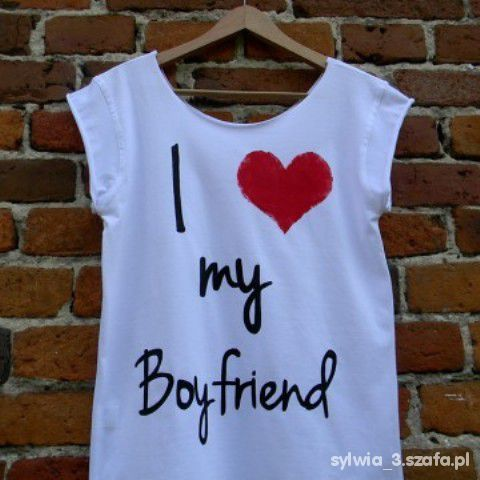 T-shirt Koszulka I love my Boyfriend