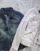 Kappahl jeansowa kurtka marynarka z falbankami...