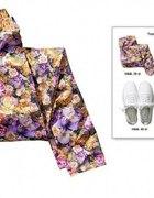 H&M legginsy floral 40