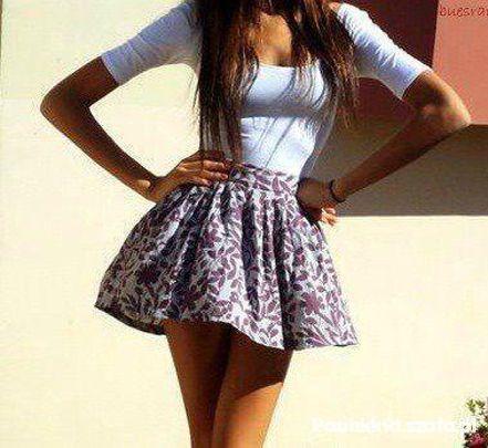 Piękna usztywniana spódniczka