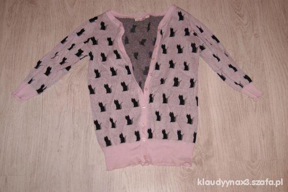 różowy sweterek w kotki NEW YORKER