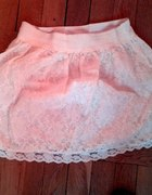 biała haftowana koronkowa spódniczka rozmiars...