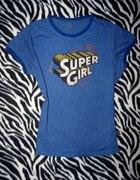 Bluzka Super Girl batman superman glam emo scene S