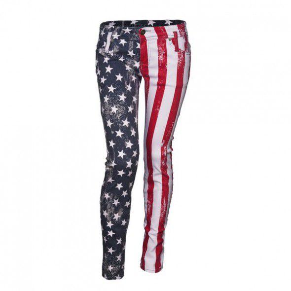 Spodnie usa z motywem flagi usa...