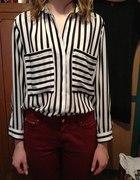 koszula w pionowe paski