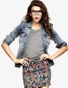Marmurkowa dżinsowa koszula H&M