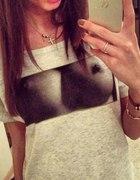 koszulka tshirt cycki piersi