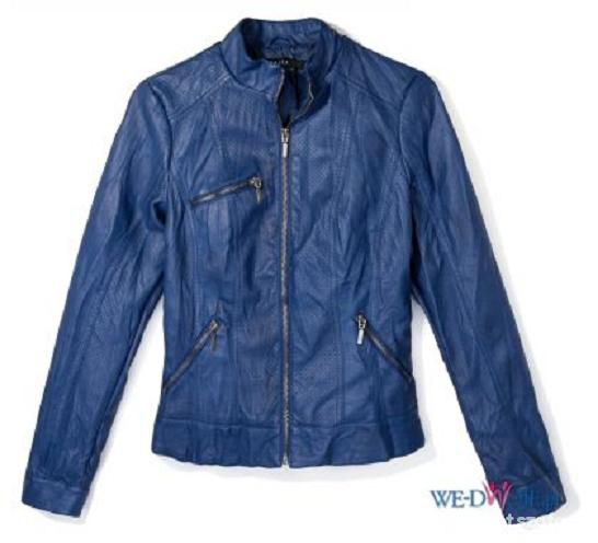 niebieska kurtka mohito skóra eko