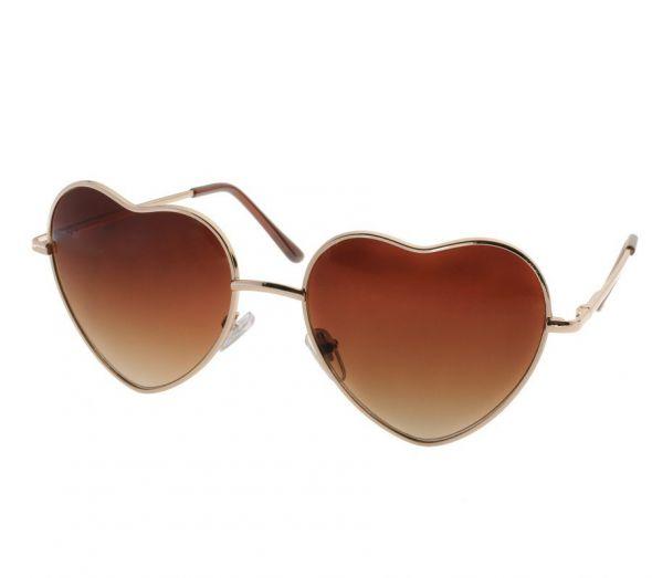 Okulary pilotki w kształcie serca