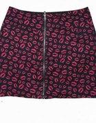 spódniczka H&M zip lips...