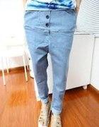 jeansowe haremy