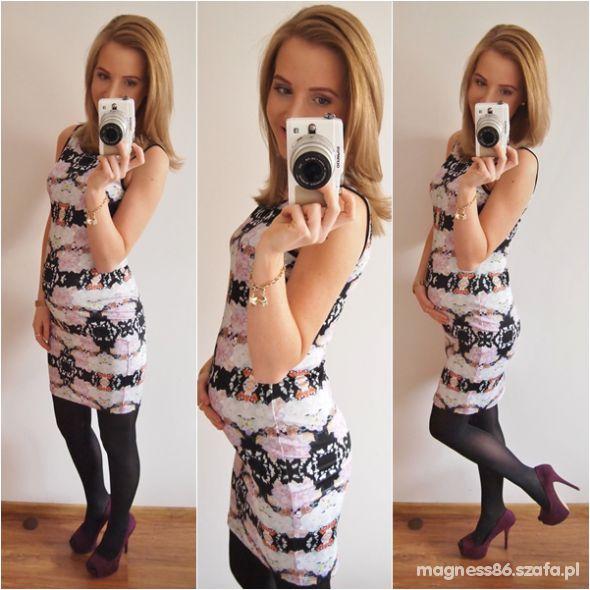Mój styl Na wieczór wzorzysta sukienka