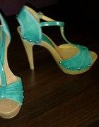 turkusowe sandały 38