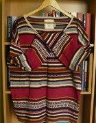 H&M HiM sweter aztec norweski XL L oversize 40 42