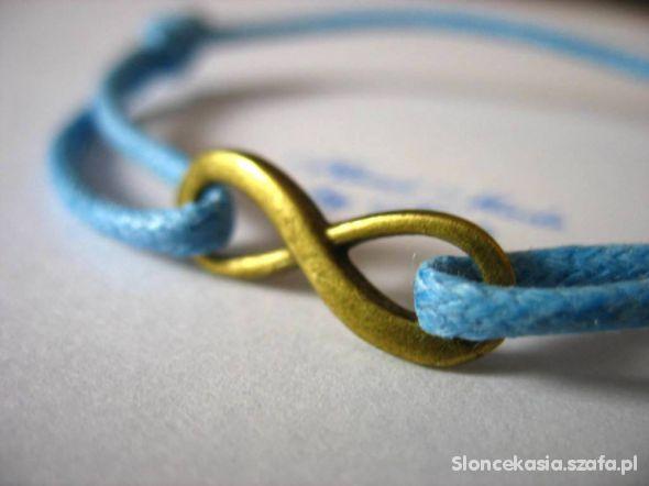 sznurkowa bransoletka znak nieskończoności