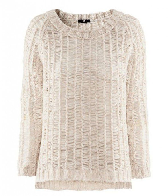 Dzianinowy beżowy sweter Lana Del Rey H&M...