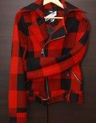 Kurtka w czerwona krate Ramoneska Ciepła