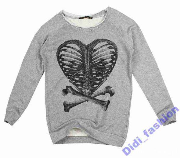 zara bluza szkielet żebra serce