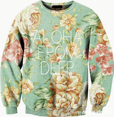 Bluza aloha from deer w kwiaty Szukaaam...