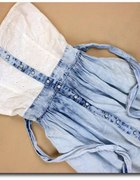 Moja śliczna jeansowa sukienka