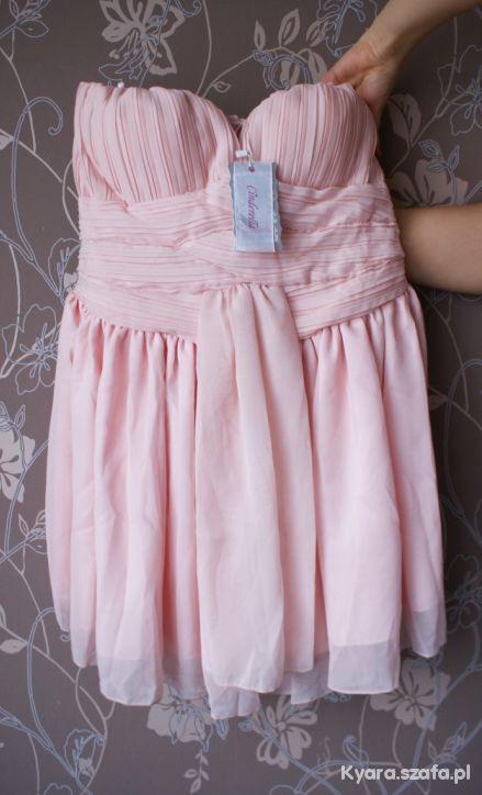 01f28f31d4 Wyjątkowa sukienka cinderella gorsetowa pudrowa w Suknie i sukienki ...
