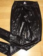 legginsy czarne z połyskiem