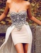 Sukienka sexy retro vintage asymetryczna