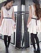 ROMWE szyfonowa sukienka bez pleców...