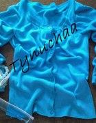 WYPRZEDAŻ niebieski sweterek rozpinany