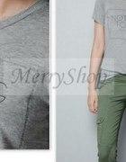 szare bluzki t shirty z napisami