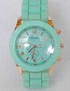 Miętowy Japan style jelly watch