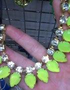 naszyjnik neonowy limonka zółty zieleń