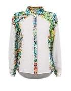 Koszula biała w kwiaty bluzka cubus L 40