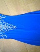 krotka niebieska sukienka...