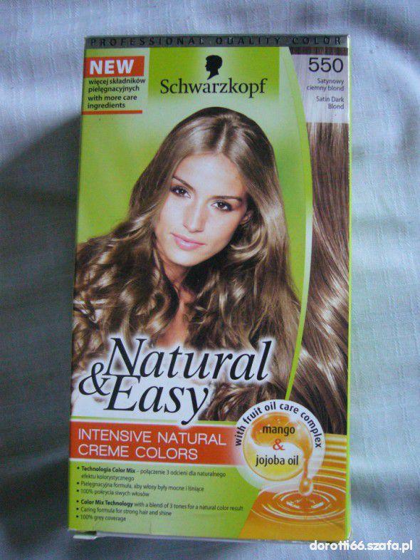 Does Natural Hair Drive Men Away: Farba Do Włosów Natural Easy Schwarzkopf 550 W Włosy